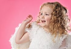 Beautiful little angel girl Stock Photography