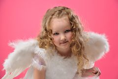 Beautiful little angel girl Stock Images