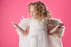 Beautiful little angel girl i Royalty Free Stock Photography