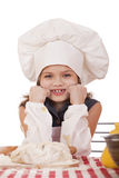 Beautiful little baby dressed as a cook Royalty Free Stock Photography