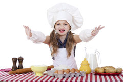 Beautiful little baby dressed as a cook Royalty Free Stock Image