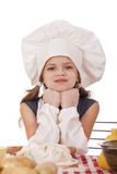 Beautiful little baby dressed as a cook Royalty Free Stock Images