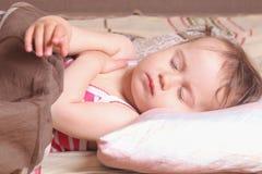 Beautiful little baby girl sleeping (childhood, security, family Stock Photo