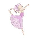 Beautiful little ballerina. Stock Photos