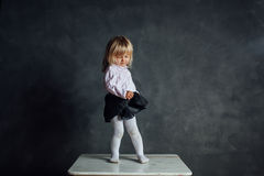 Beautiful little ballerina dancer Stock Images