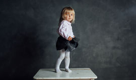 Beautiful little ballerina dancer Stock Photo