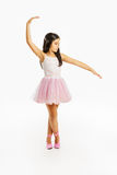 Beautiful little ballerina dancer Stock Photo