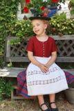 Beautiful little Bavarian girl stock image