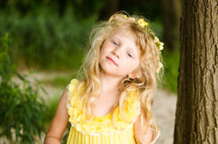 Beautiful little blond girl portrait Royalty Free Stock Image
