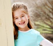 Beautiful little blond girl smiling Royalty Free Stock Photography