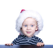 Beautiful little boy with blond hair and blue eyes Stock Images