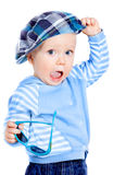 Beautiful little boy in a cap Royalty Free Stock Photography