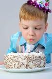 Beautiful little boy celebrates birthday Stock Photography