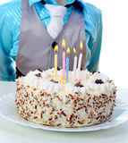 Beautiful little boy celebrates birthday Stock Images