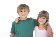 Beautiful little boy and girl Stock Photos