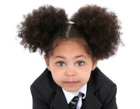 Beautiful Little Business Woman In Jacket And Tie Royalty Free Stock Photo