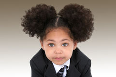 Beautiful Little Business Woman In Jacket And Tie royalty free stock image