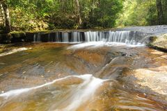 Beautiful little cascade in tropical forest. Stock Photo