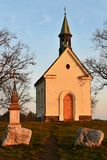 Beautiful little chapel. The Chapel of Mary Help of Christians. Central Europe Czech Republic. South-Moravian region. The city of Stock Image