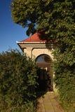Beautiful little chapel. Europe - Czech Republic. South-Moravian region. Beautiful landscape with sunset - wine region. Beautiful little chapel. Europe - Czech royalty free stock photos