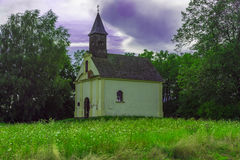 A beautiful little church in the field Stock Photos