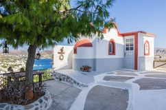 Beautiful little church on a hill in Leros island, Greece Royalty Free Stock Photography