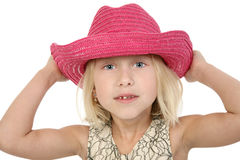 Beautiful Little Cowgirl Royalty Free Stock Photography