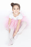 Beautiful little dancer, ballerina in pink dress Stock Photo