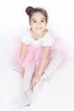 Beautiful little dancer, ballerina in pink dress Stock Photo