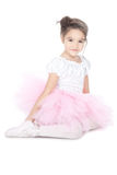 Beautiful little dancer, ballerina in pink dress Royalty Free Stock Photography
