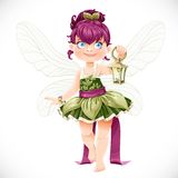 Beautiful little fairy with a flashlight Royalty Free Stock Image