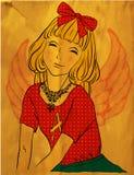 Beautiful little fairy girl Stock Image