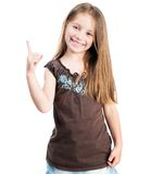 Beautiful little fashion girl Stock Images