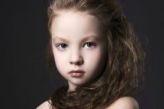 Beautiful little gir portrait.beautiful child royalty free stock photos
