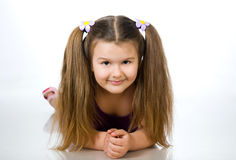 Beautiful little girl. Stock Photos