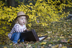 Beautiful little girl. In an autumn park Royalty Free Stock Photography