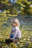 Beautiful little girl. In an autumn park Royalty Free Stock Photos