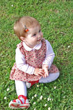 Beautiful little girl. Little girl in the park Royalty Free Stock Photos