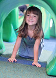 Beautiful little girl. Playing in park royalty free stock photos