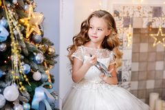 Beautiful little girl in a amazing dress royalty free stock images