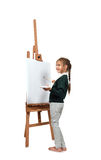 Beautiful little girl artist Royalty Free Stock Photo