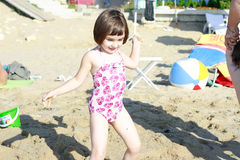 Beautiful little girl on the beach Royalty Free Stock Photography
