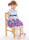 Beautiful little girl with beautiful Royalty Free Stock Image