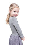Beautiful little girl with blond hair isolated Royalty Free Stock Photos