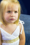 Beautiful little girl with blond hair Royalty Free Stock Image