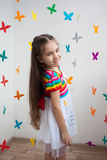A beautiful little girl in bright dress Royalty Free Stock Image