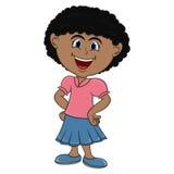 Beautiful little girl cartoon Royalty Free Stock Photos