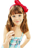 Beautiful little girl with chocolate Stock Photography