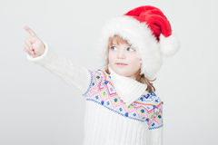 Beautiful little girl with Christmas cup Royalty Free Stock Image