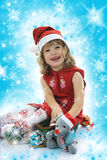 Beautiful little girl with christmas decoration Royalty Free Stock Photo